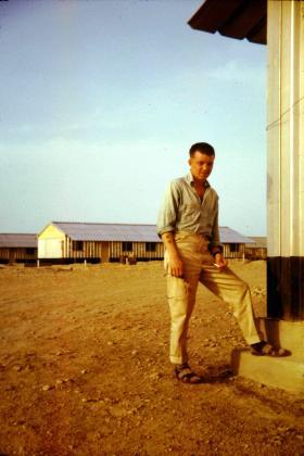 William Murray at Hamala Army Camp, Bahrain, 1963.