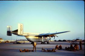 Waiting at Muharraq Airfield on a 2 hour standby for Zanzibar, June 1963.