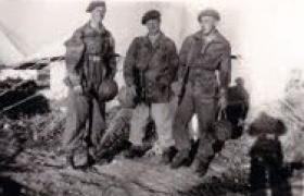 L/Cpl Pedersen with others of 334th Forward Observer Battery.