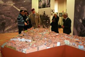 Major Hargreaves MC visiting Battle of Ortona Museum, Italy, March 2013.