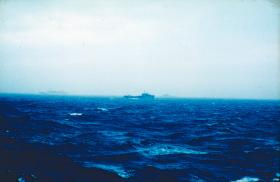 Royal Fleet Auxiliary ship, Mid May 1982.