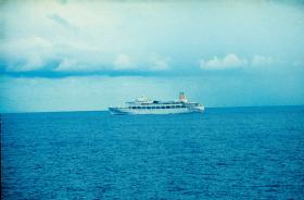 SS Canberra, Falklands, 1982.