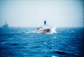 MV Europic Ferry, Carrying 2 PARA's Heavy Kit to the Falklands, May 1982.