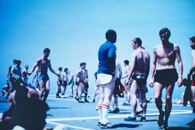 Paras PT, sailing south, Falklands, May 1982.