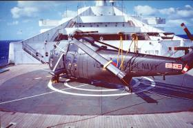 Sea King helicopter on board SS Canberra, May 1982.