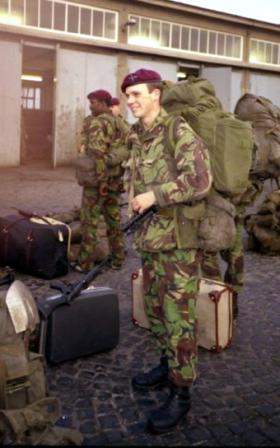 Pte Keating on Exercise Lionheart, 1984.