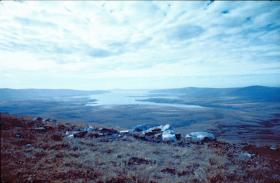 San Carlos Water from the surrounding hills, May 1982.
