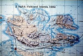 2 PARA moves, Falklands Campaign, May/June 1982.