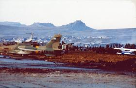 Port Stanley Airport, Falklands, June 1982.