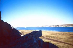 Port Stanley from 2 PARA's position, Falklands, 1982.