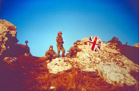 The first bowl Mount Longdon, 1 Platoon 7IR command post, 12 June 1982.