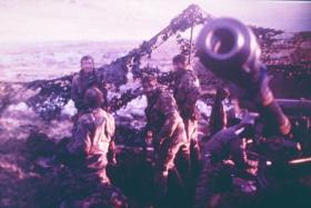British Artillery, Falklands, 1982.