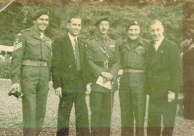 Reunion at Arnhem, Ted Short and Brigadier Hackett, 1948