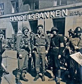 Lt Col Norman Field in Copenhagen 1945