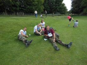 Mark Ross after the Paras 10 Catterick, 2012.