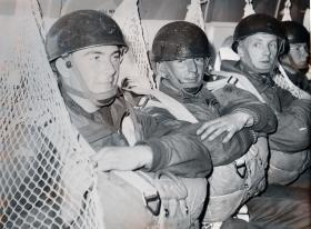Guards Parachute Members onboard the Argosy, 1963