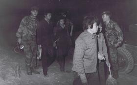1 PARA patrol escorts illegal immigrants on the Hong Kong border, 1980