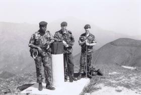 1 PARA soldiers on Robins Nest, Hong Kong border region, 1980