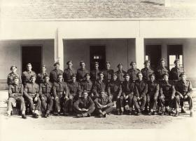 Group portrait of Signals Platoon, 1st Parachute Battalion, Barletta, Italy, October 1943