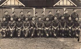 1 Para Officers and Sgts from HQ Coy, Bourne, Lincs, Aug 1945