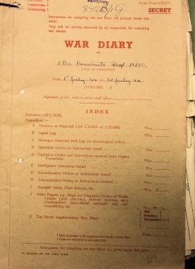 1st Parachute Battalion War Diary, July 1944
