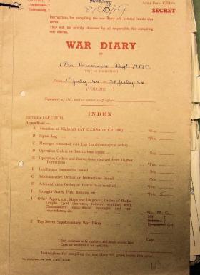 1st Parachute Battalion War Diary, July 1944