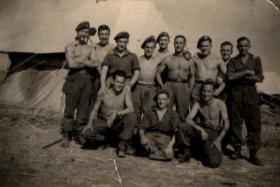 Informal group photo of 1 Section, 1 Pln, A Coy, 4 PARA, Palestine, 1946