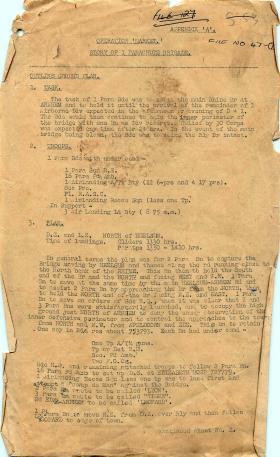 Story of 1st Parachute Brigade at Arnhem.