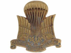 1st (Canadian) Parachute Battalion Other Ranks' Brass Cap Badge (1944)