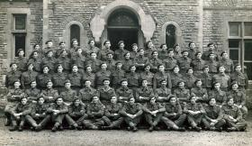 Number 1 Company, 1st Airborne Divisional Signals. Honington Hall, Lincs, Sept 1944.