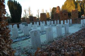 Gravestones of Airborne casualties from Op Freshman buried in Eiganes Churchyard, Stavanger, Norway, 2010.