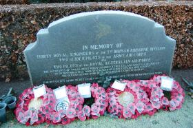 Memorial in to the men killed on Op Freshman, Eiganes Churchyard, Norway