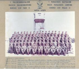 South African 1 Parachute Battalion, Course 111v Phase 11  16/9 - 4/10/74.