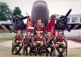 1 PARA Colour Party Airborne Forces Day Golden Jubilee July 1992.