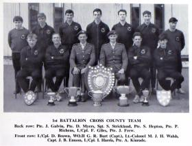 1 PARA Cross Country Team 1967