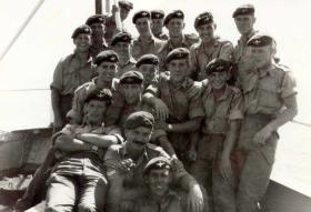 Drums Pln, 1 PARA, practising seaborne landings in Cyprus, 1958.