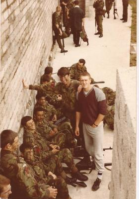 1 Para Anti Tanks waiting for helicopter transport Fermanagh 1982