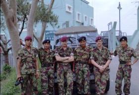 Members of 1 PARA,  Hong Kong 1980.