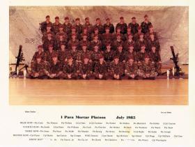 Mortar Platoon, 1 PARA, July 1985.