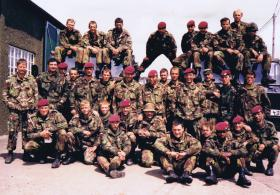 Mortar Platoon, 1 PARA  in Otterburn Camp for the annual Army Mortar Platoon Concentration in 1986.