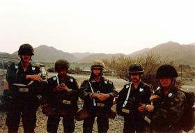 Members of 1 PARA, Oman Tour, 1982.