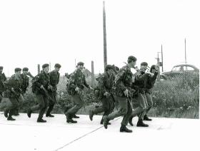 1 Platoon, A Company, 1 PARA, Hythe & Lydd March and Shoot, 1979.