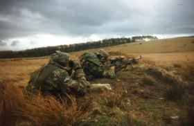 Cpl Partridge & Pte Wadsworth, Sniper Section, 12 Company, 4 PARA, c2002.