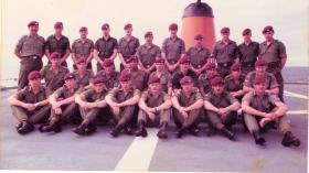10 Platoon D Coy 2 PARA on MV Norland bound for the Falklands,1982.