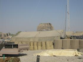 Large Sangar and Tents with Blast Walls, Patrol Base 1, Afghanistan 2010