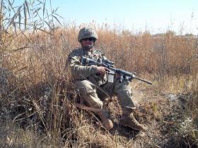 Sgt Tom Blakey during Herrick XIII, Afghanistan, 2010.