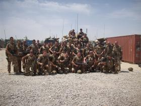 Group photo of 7 Platoon, C (Bruneval) Coy, 2 PARA, Afghanistan, May 2008