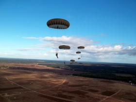 Photo taken by Sgt Tom Blakey whilst jumping onto Ginkel Heath, 22 September 2012.
