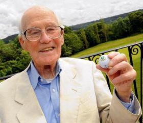 Bill Phillips on his 100th birthday, 2012.