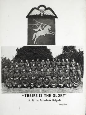 """HQ 1st Parachute Brigade 1944, """"Theirs is the Glory"""""""